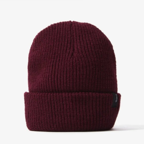 Brixton Acrylic Heist Beanie Burgundy Men's Winter Hat
